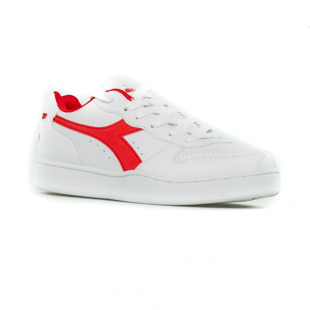 SCARPA UOMO DIADORA PLAYGROUND OX 101.172319 01 45033 WHITE/RED
