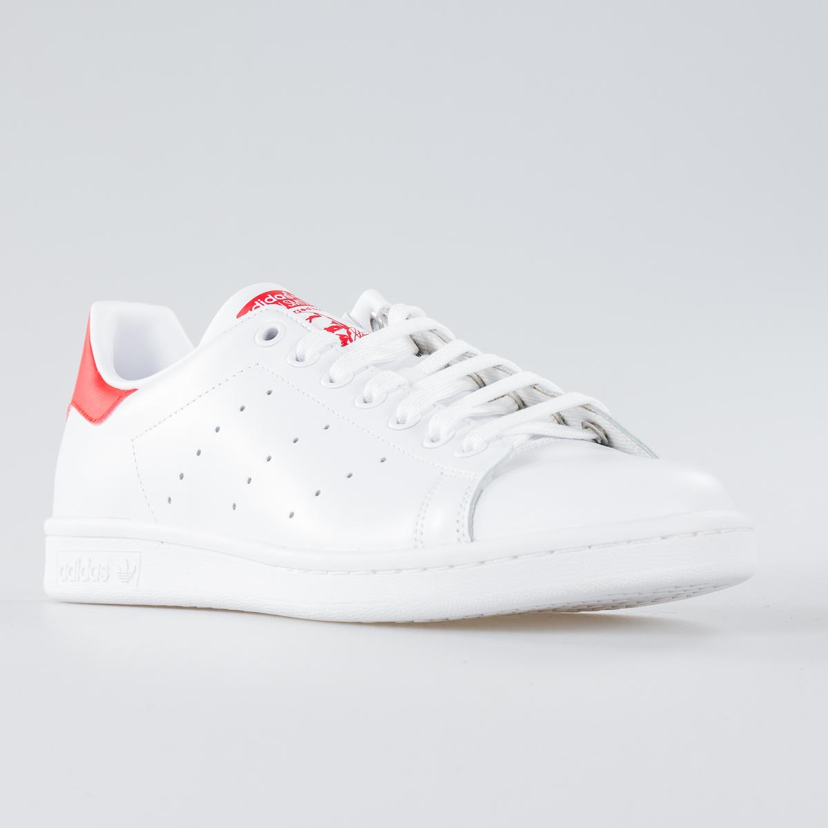 half off 98635 27f7e SCARPA UOMO ADIDAS STAN SMITH M20326 WHITE RED