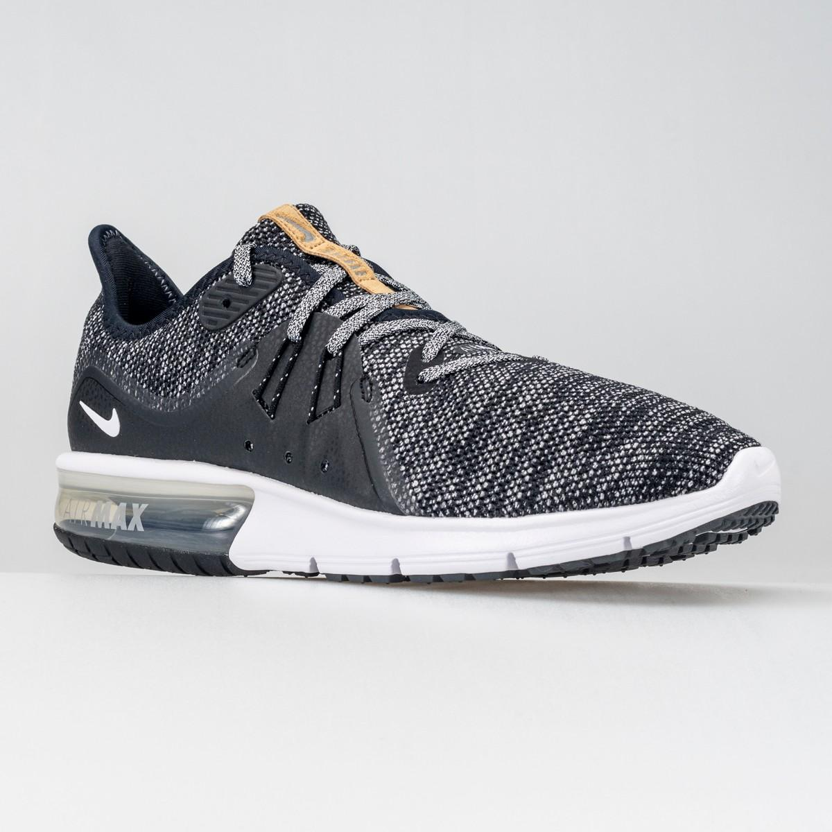 SCARPA UOMO NIKE AIR MAX SEQUENT 3 921694 011 BLACK WHITE