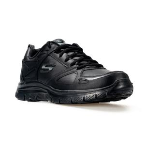 SCARPA UOMO SKECHERS FLEX ADVANTAGE EVEN STRENGHT BBK BLACK